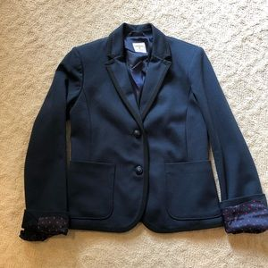 GAP Navy Blue Blazer with Black Trim